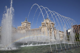 Spain, Valladolid, Fountain Photographic Print by Samuel Magal
