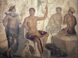 Italy, Naples, Naples Museum, from Pompeii, Home of the Centaur (VI 9, 3-5), Meleager and Atalanta Photographic Print by Samuel Magal