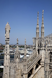 Italy, Milan, Milan Cathedral, Northern Roof Top, Spires, Flying Buttresses, Photographic Print by Samuel Magal