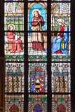 Prague, St. Vitus Cathedral, Stained Glass Window, Jesus Holding a Hatchet Photographic Print by Samuel Magal