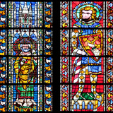 France, Alsace, Strasbourg, Strasbourg Cathedral, Stained Glass Window, St. Juste and St. Marcus Photographic Print by Samuel Magal