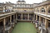 England, Somerset, Bath, Bath Abbey, Roman Baths Photographic Print by Samuel Magal