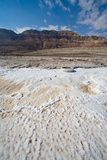 Middle East, Israel, Dead Sea salt on coast Photographic Print by Samuel Magal