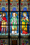 Prague, St. Vitus Cathedral, Stained Glass Window, St. Wenceslaus, St Wolfgang, St Joanna Photographic Print by Samuel Magal