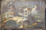 Italy, Naples, Naples National Archeological Museum, Landscape with Animals to Pasture Photographic Print by Samuel Magal