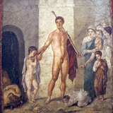 Italy, Naples, Naples Museum, from Pompeii, House of Gavius Rufus (VII, 2, 16), Liberator Theseus Photographic Print by Samuel Magal