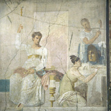Naples, Naples Museum, from Herculaneum, Insula Orientalis, II, Palaestra, The Actor king Photographic Print by Samuel Magal