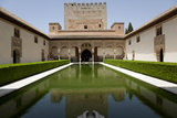 Spain, Andalusia, Granada, Alhambra Palace, Courtyard of The Myrtles (Patio de Los Arrayanes) Photographic Print by Samuel Magal