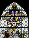 England, Salisbury, Salisbury Cathedral, Nave North Aisle, Stained Glass Window, War Memorial Photographic Print by Samuel Magal