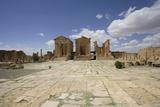 Tunisia, Sbeitla, Forum and Capitolium Stampa fotografica