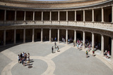Spain, Andalusia, Granada, Alhambra Palace, Palace of Carlos V, Inner Courtyard Photographic Print by Samuel Magal