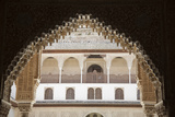 Spain, Andalusia, Granada, Alhambra Palace, View to the Courtyard, Decorated Soffit Photographic Print by Samuel Magal