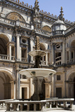 Portugal, Ribatejo Province, Tomar, Convent of the Knights of Christ, Main Cloister, Fountain Photographic Print by Samuel Magal