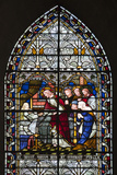 England, Salisbury, Salisbury Cathedral, Stained Glass Window Photographic Print by Samuel Magal