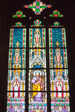 Prague, St. Vitus Cathedral, Stained Glass Window, St Thomas Photographic Print by Samuel Magal