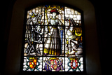 Spain, Segovia, Alcazar, Stained Glass Window, Medieval Lady Photographic Print by Samuel Magal