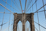 USA, New York, Brooklyn Bridge Photographic Print by Samuel Magal