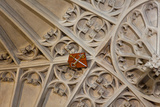 England, Somerset, Bath, Bath Abbey, Fan-Vaulted Ceiling, Coat of Arms Photographic Print by Samuel Magal