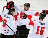 Team Canada Drew Doughty, Ryan Getzlaf, & Jonathan Toews 2014 Winter Olympics Action Photo