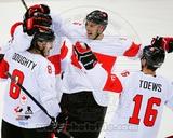 Team Canada Drew Doughty, Ryan Getzlaf, & Jonathan Toews 2014 Winter Olympics Action Photo
