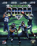 NFL Seattle Seahawks The Legion of Boom Composite - Earl Thomas, Richard Sherman, Kam Chancellor, B Photo