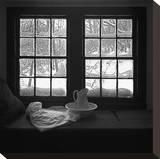 Window Seat Blizzard Opspændt lærredstryk af Tom Artin