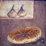Italy, Naples, Naples National Archeological Museum, Herculaneum, Still Life with Bread and Figs Photographic Print by Samuel Magal