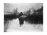 Going to Camp - Apsaroke Giclee Print by Edward S. Curtis