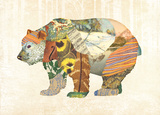Woodland Creature: Bear Poster Posters by  Satchel & Sage