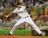 Miami Marlins Nate Eovaldi 2013 Action Photo