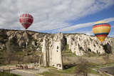 Turkey, Cappadocia, Goreme Valley, Hot Air Balloons Photographic Print by Samuel Magal