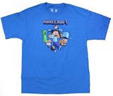 Youth: Minecraft - Run Away! Turquoise T-Shirt