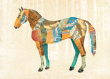 Woodland Creature: Horse Poster Art by  Satchel & Sage