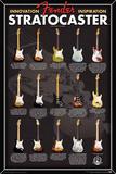 Fender- Stratocaster Evolution Plakaty