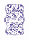 Venn by Pen: Peace, Quiet, Contemplation Print by  Satchel & Sage