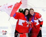 Team Canada Shannon Szabados & Hayley Wickenheiser 2014 Winter Olympics Action Photo
