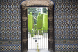 Spain, Andalusia, Sevilla, Alcazar, Royal Fortresses (The Royal Alcazar), Decorated Door Photographic Print by Samuel Magal