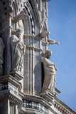 Italy, Siena, Siena Cathedral, Statues and Gargoyles Photographic Print by Samuel Magal