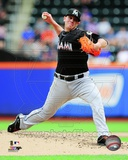 Miami Marlins Jose Fernandez 2013 Action Photo