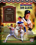 Tom Glavine Atlanta Braves MLB Hall of Fame Legends Composite Photo
