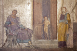Italy, Naples, Naples Museum, from Pompeii, House of Jason (IX 5, 18), Paris and Elena Photographic Print by Samuel Magal