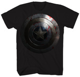Captain America: The Winter Soldier - Beaten Shield T-Shirts