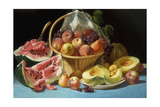Melons, Peaches and Grapes Giclee Print by John F. Francis