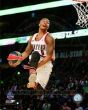 Portland Trail Blazers Damian Lillard Slam Dunk Contest 2014 NBA All-Star Game Action Photo