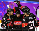 Team Canada Jeff Carter, Matt Duchene, & Corey Perry 2014 Winter Olympics Action Photo