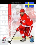 Detroit Red Wings Henrik Zetterberg- Sweden Portrait Plus Photo