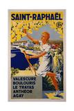 Saint-Raphael, SNCF Giclee Print by J. Munier