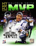 Seattle Seahawks Malcolm Smith Super Bowl XLVIII MVP Portrait Plus Photo
