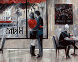Bistro Romance Poster by Ruane Manning