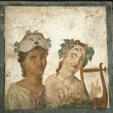 Naples, Naples National Archeological Museum, from Pompeii, Fresco Photographic Print by Samuel Magal